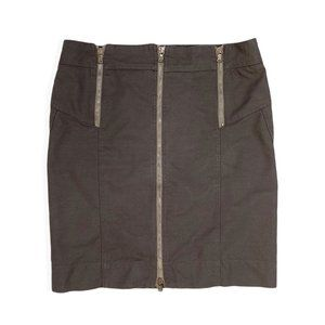 Marc Jacobs Zip Up Twill Straight Skirt